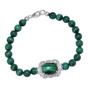 MALACHITE Stunning Bracelet with Sterling Silver